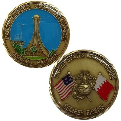USMC Marine Security Guard Detachment MSG-Det Manama Bahrain Challenge Coin