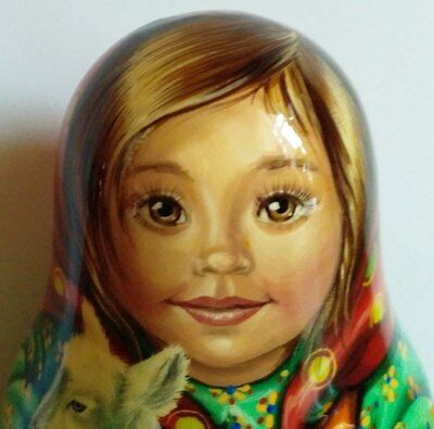 """Roly Poly Wooden Hand Painted Musical Doll is 5.2""""tall"""
