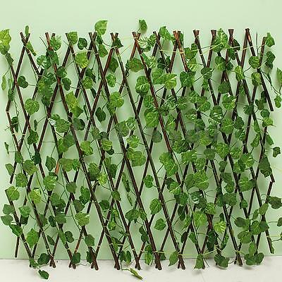 Artificial Expandable Branch Leaves Panel Privacy Screening Garden Fence Wall