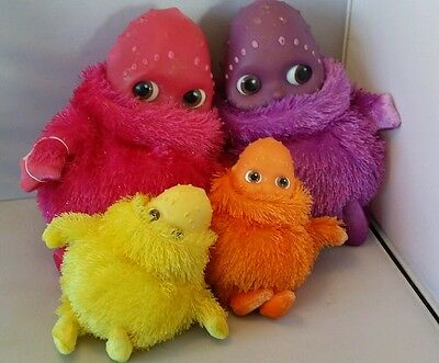Collection of Pink purple orange and yellow Boobahs ragdoll 2003