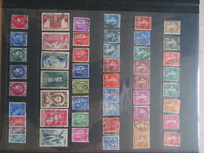 LOT 50 Timbres anciens FRANCE OBLITERES