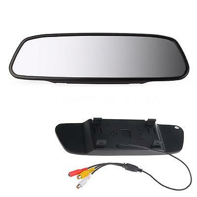 "New 5"" TFT LCD Car Rearview Mirror Monitor For Camera DVD VCD 2 Video Input N5K7"
