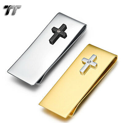 TT 316L Stainless Steel Cross Money Clip (MC48) NEW