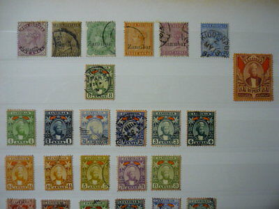 ZANZIBAR Collection of QV to KGVi Mint and Used very good condition 81 stamps
