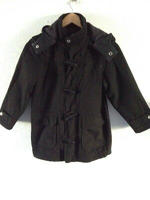 Autograph Girls Duffle Coat Age 7-8 Years Black With Hood <R10136