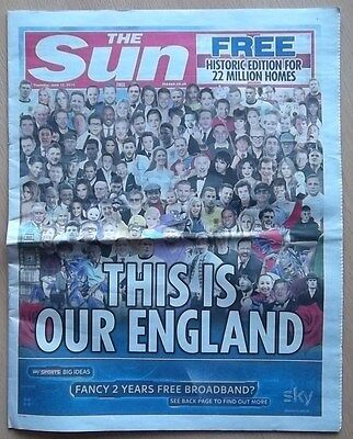 The Sun Newspaper Historic Edition June 12   2014 This is Our England