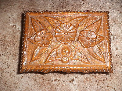 Vintage carved wooden box jewellery box