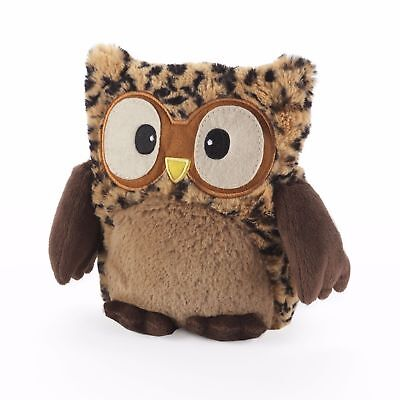 Warmies Hooty Owl BROWN Microwavable Heatable Lavender Scented Hottie Cuddly