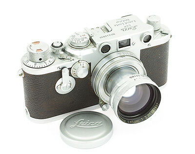 Leica IIIc Camera with Summitar 2/50 mm Lens