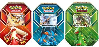 Pokemon TCG: Hoenn Power Summer 2015 Tins Sceptile EX, Blaziken EX & Swampert EX