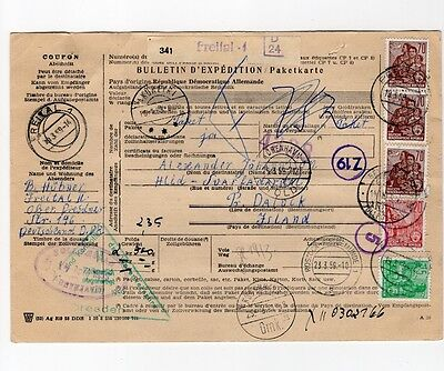 Germany DDR Covering Letter to Iceland 1959 Copenhagen Transit Cancel