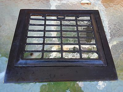 OLD VICTORIAN Cast Iron Heat Wall Vent Floor Grille Grate Register 13 x 11