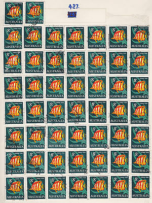 1966 8c Coral Fish Stamps Australia Used Lot x 50