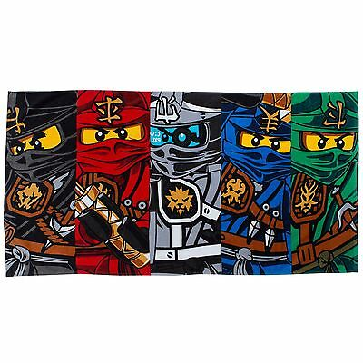 Lego Ninjago Warrior Beach Towel - 100% Cotton - Childrens Bath Towel