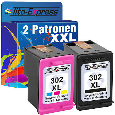 2 Patronen ProSerie für HP 302XL Envy 4520 4521 4522 4524 4525 4526 e-All-in-One
