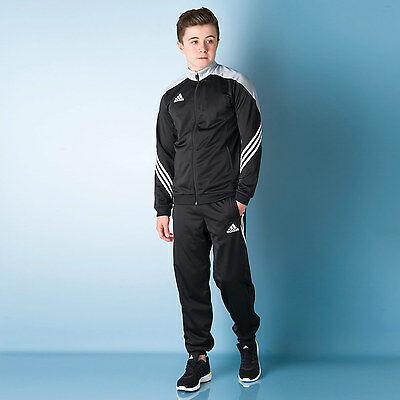 Junior Boys adidas Sereno 14 Tracksuit In Black From Get The Label