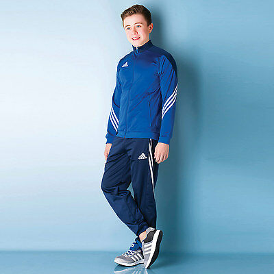 Junior Boys adidas Sereno 14 Tracksuit In Blue From Get The Label
