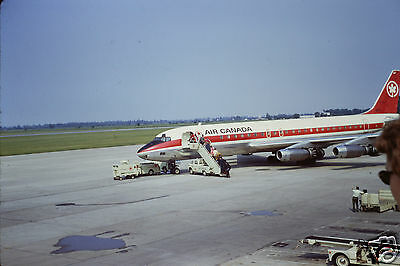 1971 Kodachrome Color 35Mm Slide Air Canada Airlines Dc-8