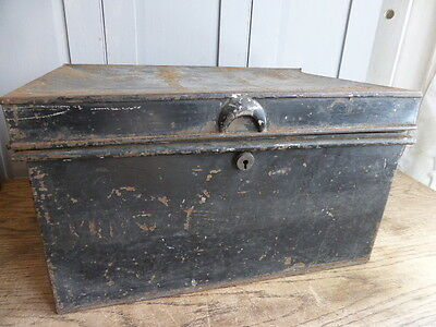Antique metal deed box by George Hall Fetter Lane London