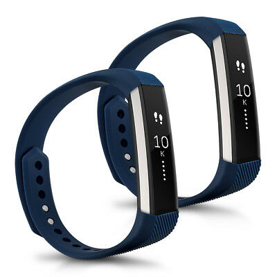 kwmobile 2X SILICONE SPARE BRACELET FOR FITBIT ALTA DARK BLUE FITNESS BRACELET