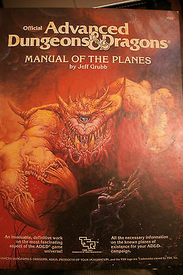 1987 Advanced Dungeons & Dragons Manual of the Planes AD&D TSR 2022  AD&D