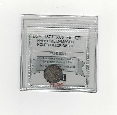 **1871** USA, Five Cent, Silver Half Dime, Filler