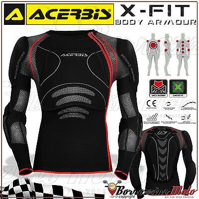Pettorina Protezione Acerbis X-Fit Body Armour Moto Cross Enduro Offroad Tg L/xl