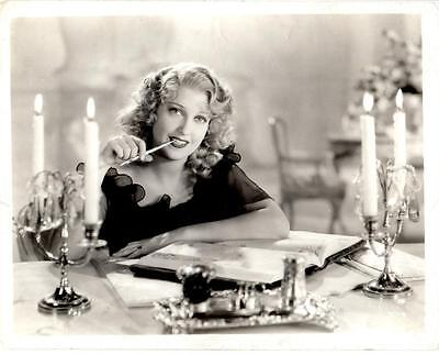 1934 JEANETTE MacDONALD in THE MERRY WIDOW Original 8x10 Portrait Photo SEXY
