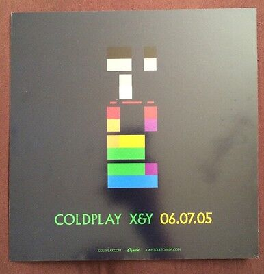 """Coldplay """"x&y"""" Rare 2005 Promotional Window Cling"""