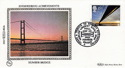 """Benham Silk Covers 1983 """" Engineering """" Set of 3 - Special Cancels - A600"""