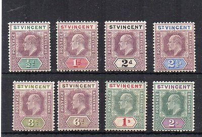 St Vincent 1902 values to 2s MH