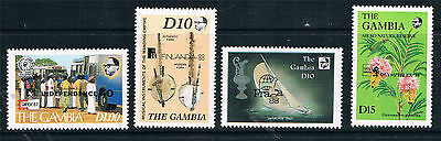 Gambia 1988 Stamp Exhibitions SG 775/8 MNH