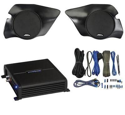 SSV Works 2 Speakers and 1 Amplifier with Wire Kit Polaris 900-1000 / RZR1K-2