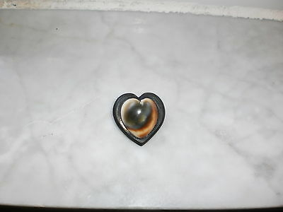 Vintage World War 2 Trench Art Pendant Australian Coin Heart Shaped 1943 Stone