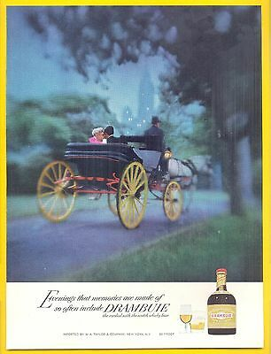 Horse and Carriage in Central Park, 1972 Drambuie Liqueur Magazine Print Ad