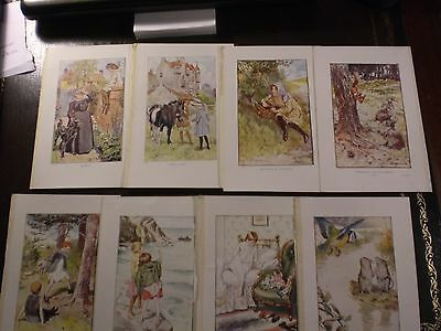 Eight Old Prints By The Artist H. M. Brock,