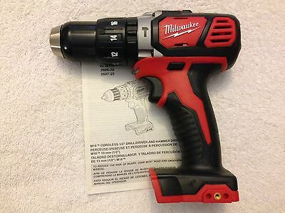 "New Milwaukee M18 2607-20 18 Volt 18V Li-ion 1/2"" Hammer Drill Driver"