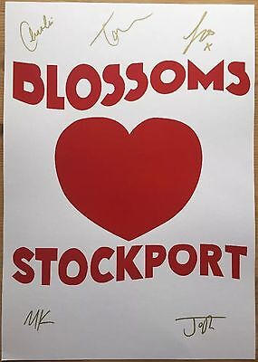 Blossoms - Stockport  Signed Promo Poster Not Vinyl Or Cd