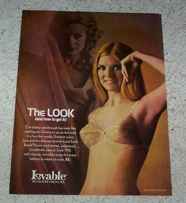 1970 ad page - Lovable Bra lingerie CUTE GIRL Dupont nylon vintage ADVERT PAGE