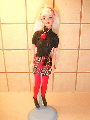 nice condition fully dressed barbie doll vgc stand not included