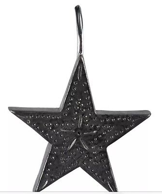 Tin Star Shower Curtain Hooks Set/12 By Park Designs--New