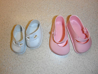 2 pairs of vintage doll shoes cinderella 3 and another