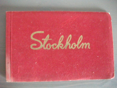 Book of Seven Colour Postcards of Stockholm