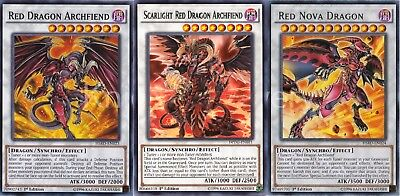 Yugioh Jack Atlas Arc V Deck - Scarlight Red Dragon Archfiend - Nova - NM