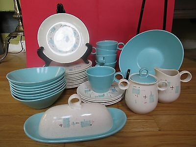 VERNONWARE HEAVENLY DAYS  Dinnerware Plates Saucers Cups Bowls BUTTER CRM/SUGAR