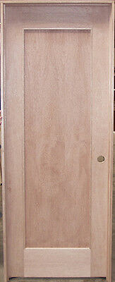Elegant Interior Door Unfinished Mahogany 1-Panel Wood SHAKER Style DOOR   NICE!