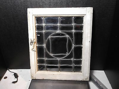 "Antique Small 11-3/4"" X 14"" Lead Glass Window"