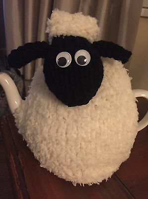 Hand Knitted Woolly Sheep Tea Cosy/Cozy