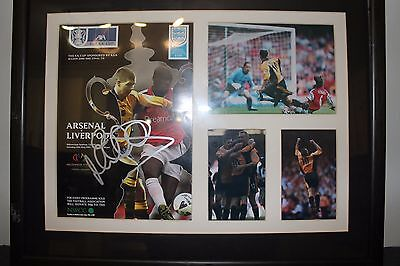Liverpool FA Cup 2001 - Hand signed programme - Framed and mounted