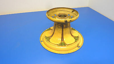 Antique Brass Painted Single Bulb Ceiling Fixture,USED